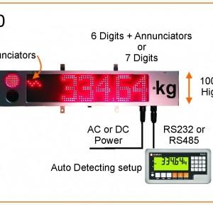 Weigh Bridge Large Display & Remote Display